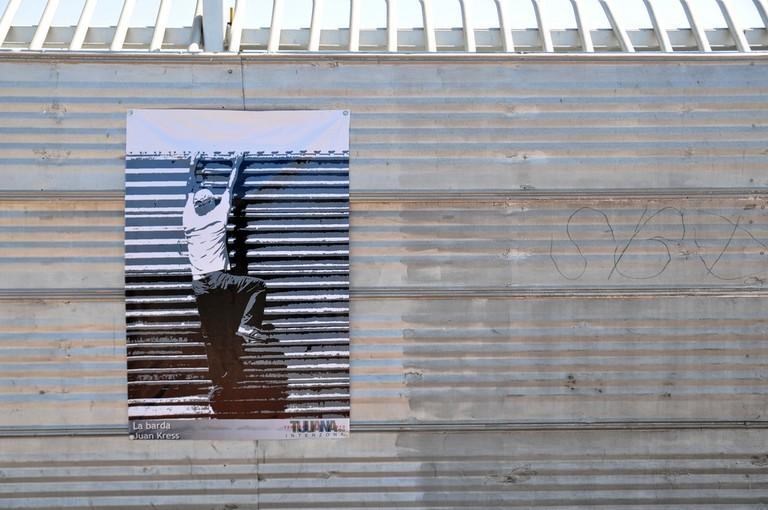 Tijuana, political art on the border wall