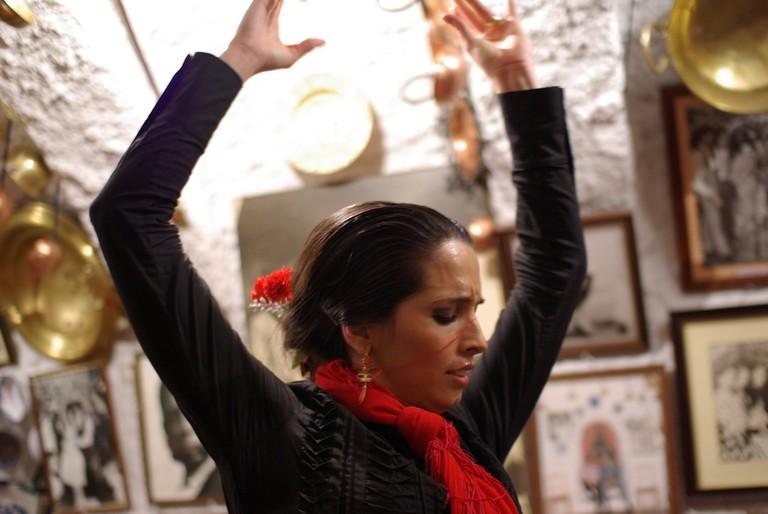 "<a href=""https://www.flickr.com/photos/procsilas/"">Zambra flamenco in a Sacromonte cave | © Procsilas Moscas/Flickr</a>"