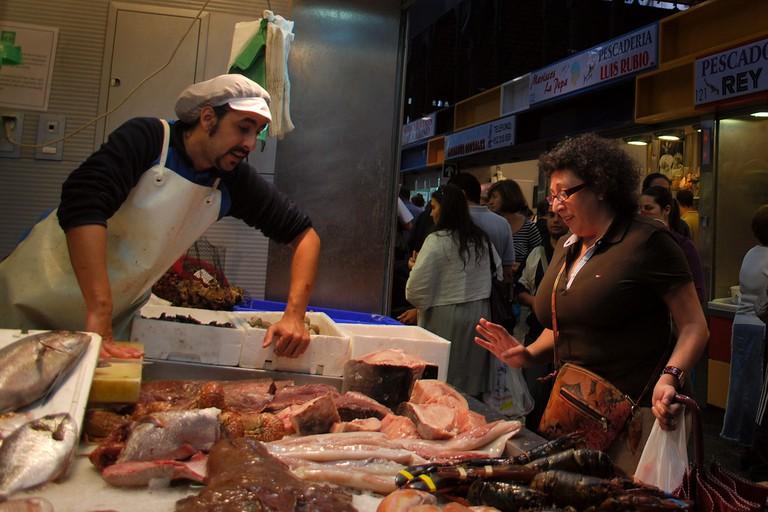 Malaga's mercado Carmen sell's the city's freshest fish; Aapo Haapanen, flickr