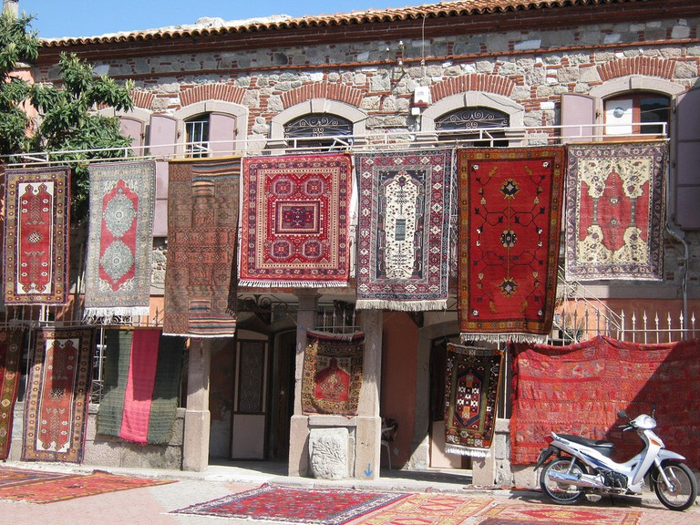 Rug shop in Turkey