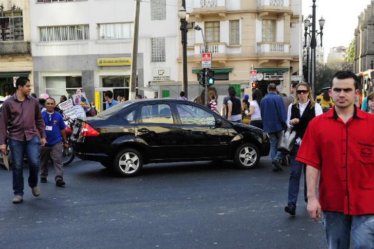 Pedestrians in São Paulo