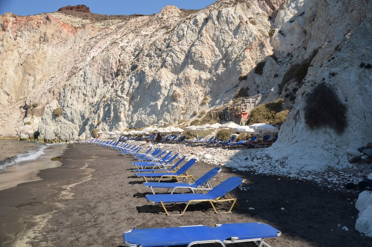 White Beach, Santorini, Greece