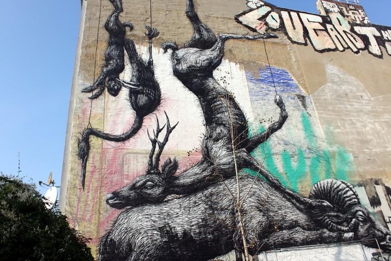 A piece by street artist Roa in Berlin