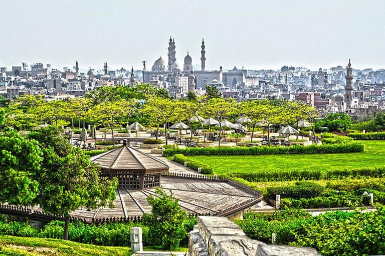 Al Azhar Park garden view