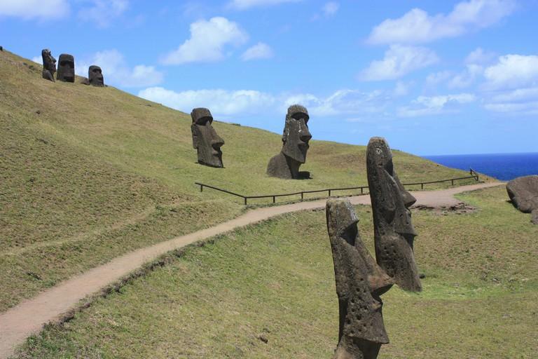 Moai at Rano Raraku