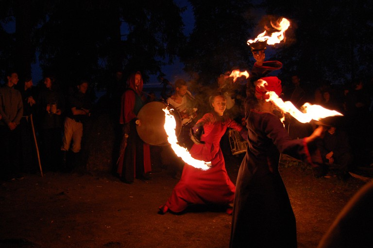 A Russian Solstice fire dance