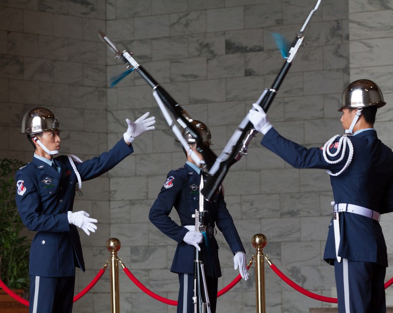 Chiang Kai-Shek Memorial Hall changing of the guard