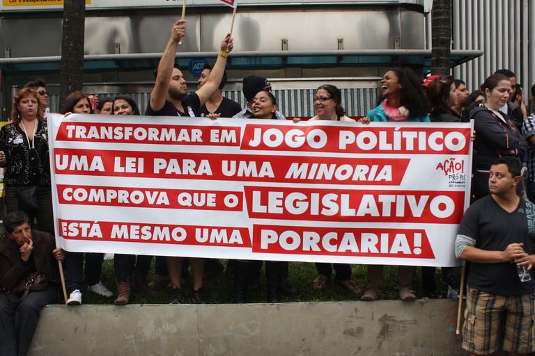 Banner at LGBT Pride Parade
