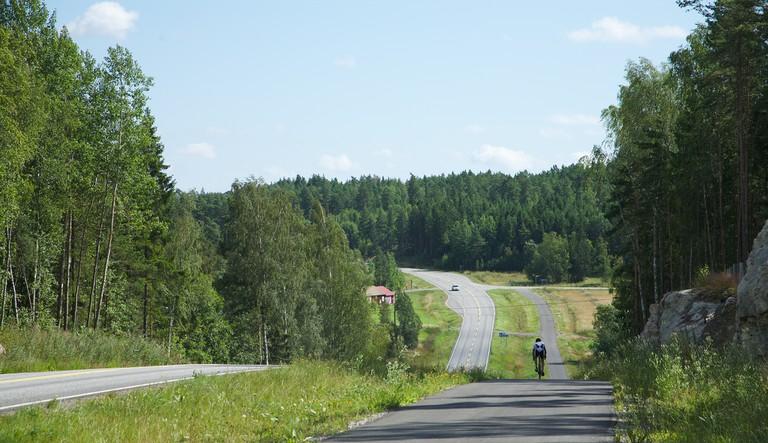 Road on the Turku Archipelago