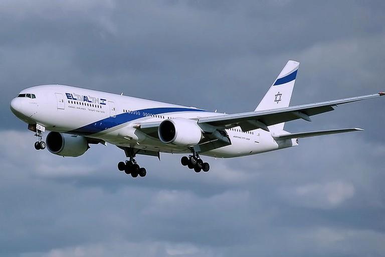 An Israeli El Al Boeing 777 plane