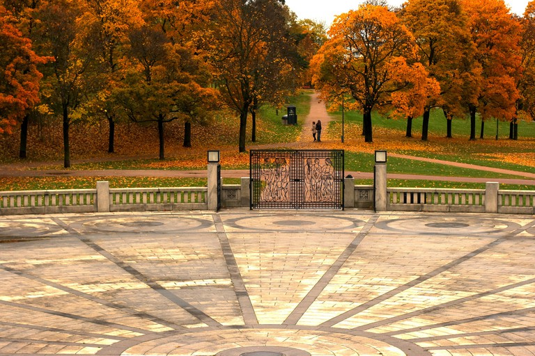 Vigelandsparken in autumn