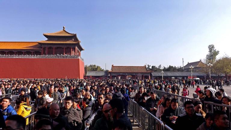 Beijing tourist crowds| © tahini/Flickr