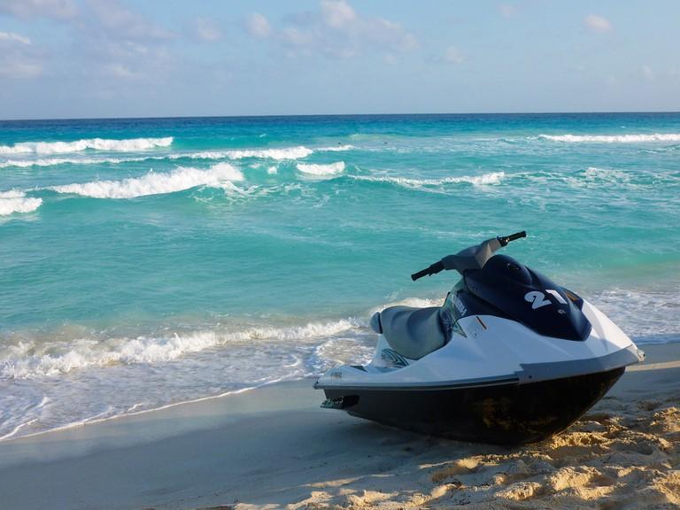 Jet Skiing On Miami Beach