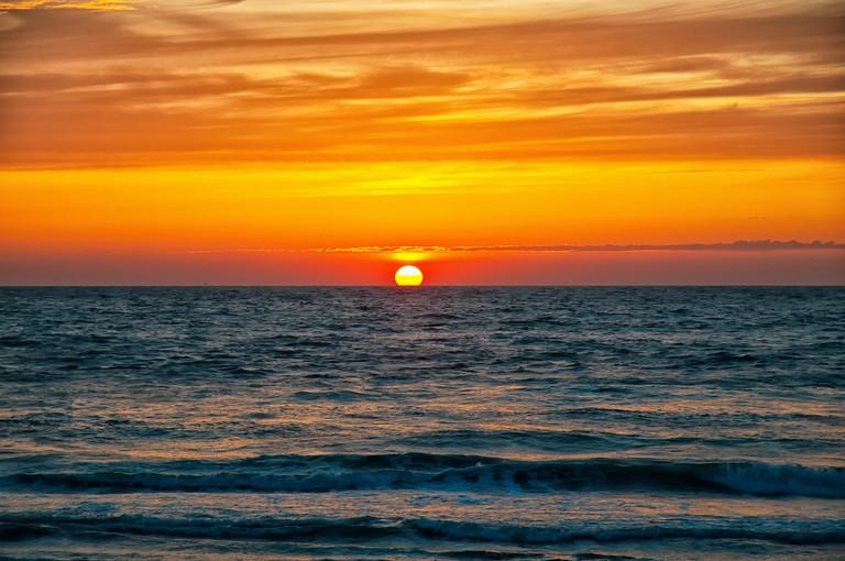 Sunset over Kijkduin