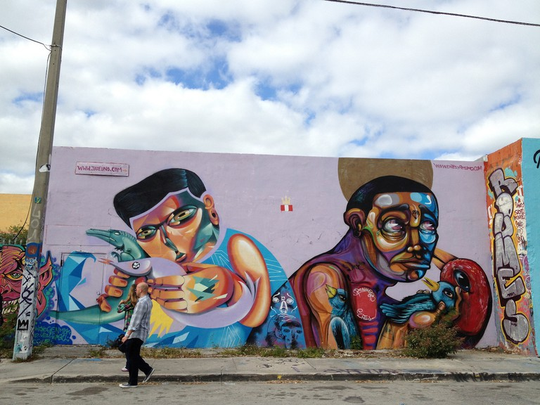 Colorful Murals In Wynwood Miami