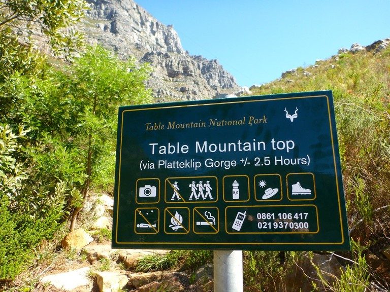 Platteklip Gorge trail, Table Mountain