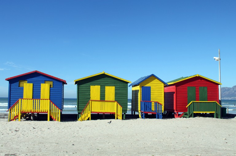 A more colourful version of Cape Town's beach huts