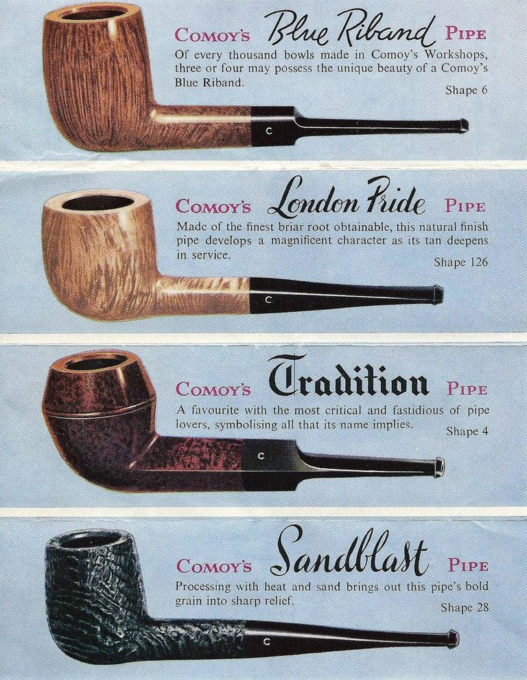 Vintage Ad for Comoy's of London Briar Tobacco Pipes
