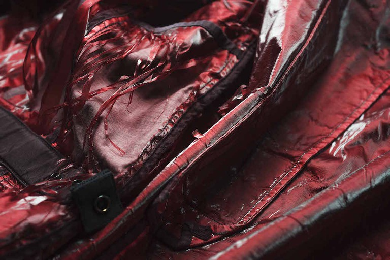 A jacket by Stone Island c.2005 which has a shattered internal synthetic fibre lining. Image by Camilla Glorioso