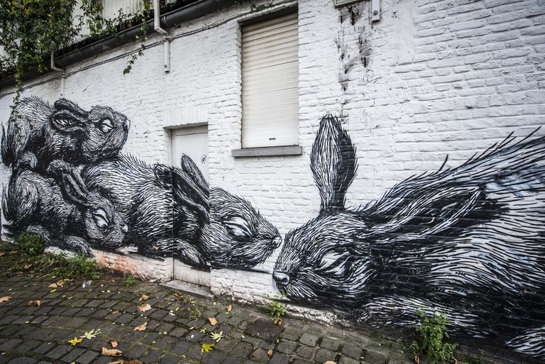 A ROA mural   Courtesy of Visit Ghent
