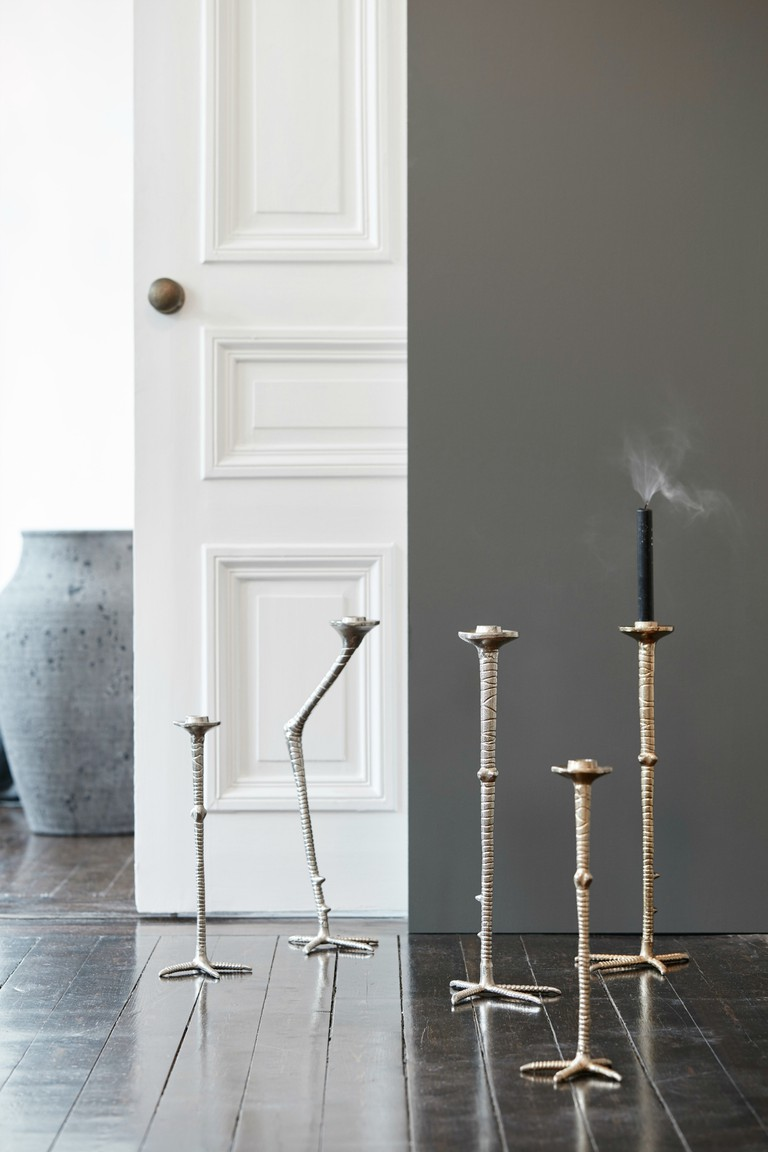 Bird Leg Gold Candlesticks   © ARBOL House