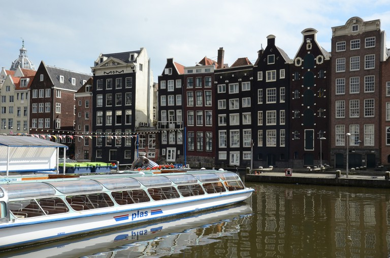 Typical townhouses in Amsterdam