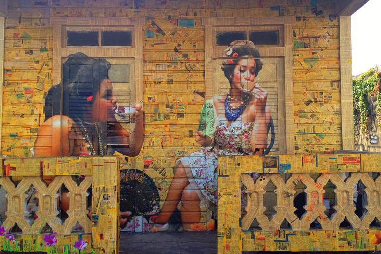 "<a href=""https://c1.staticflickr.com/4/3902/14960339281_3d3ca6658d_b.jpg"">Street art in Santurce | © Juan Cristobal Zulueta/Flickr</a>"