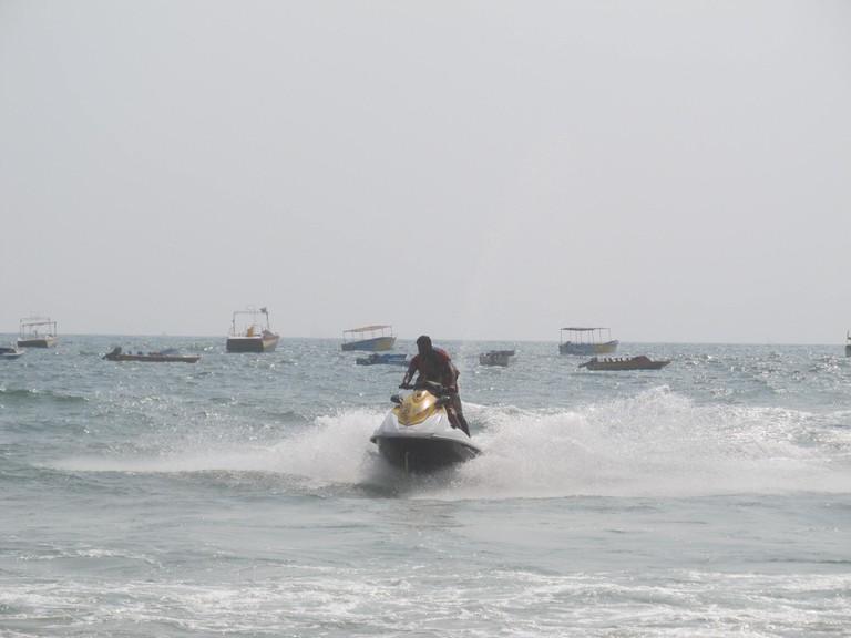 Jet-skiing at Baga Beach