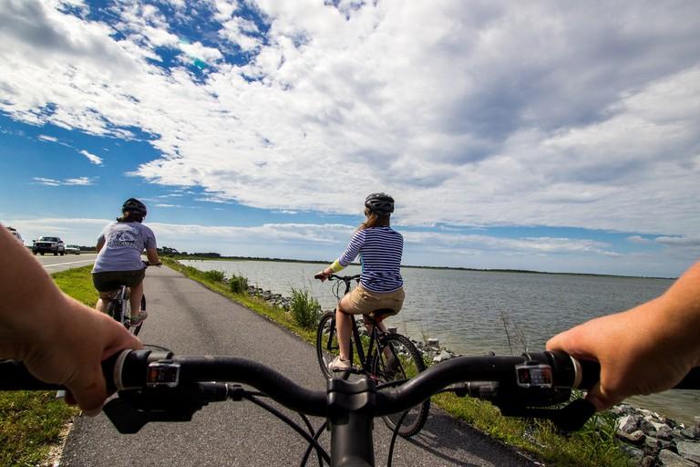 Coastal bike riding