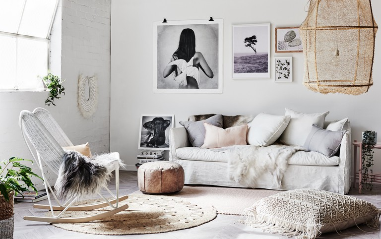 Boho luxe living room