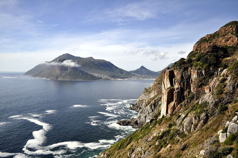 Hout Bay with Chapman's Peak on the right