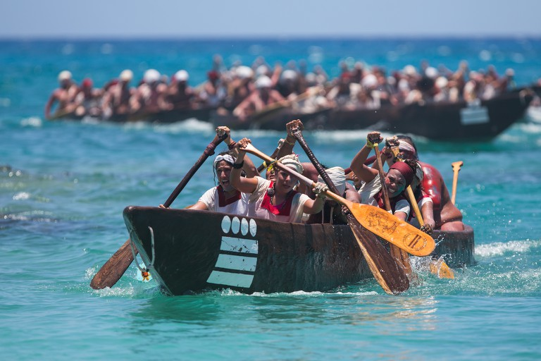 Canoeist in The Sacred Mayan Journey