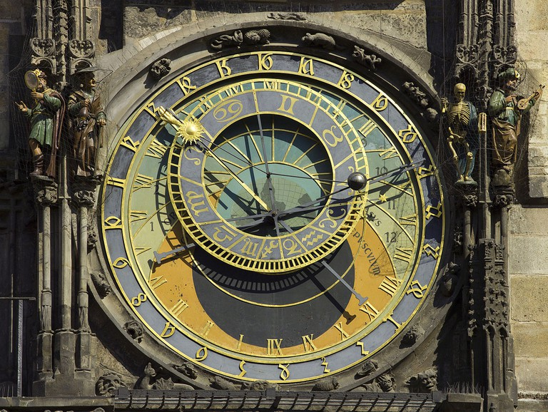 Prague's astronomical clock (in Old Town Square)