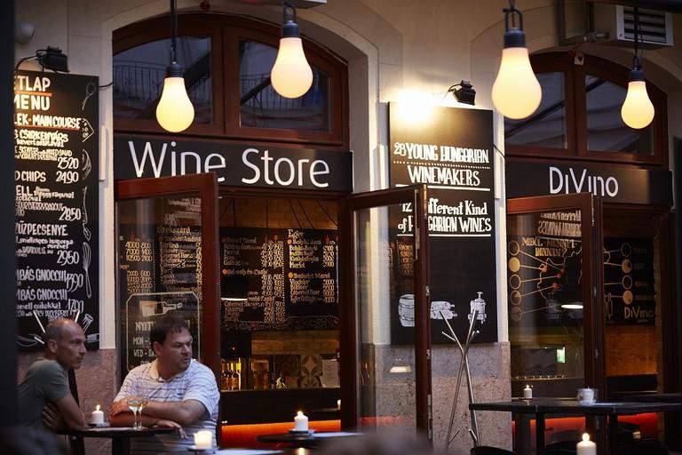 DiVino wine bar in Budapest, Hungary