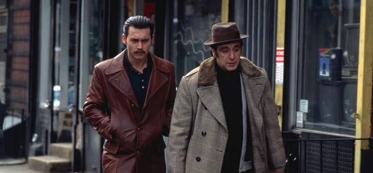 Johnny Depp and Al Pacino in 'Donnie Brasco'
