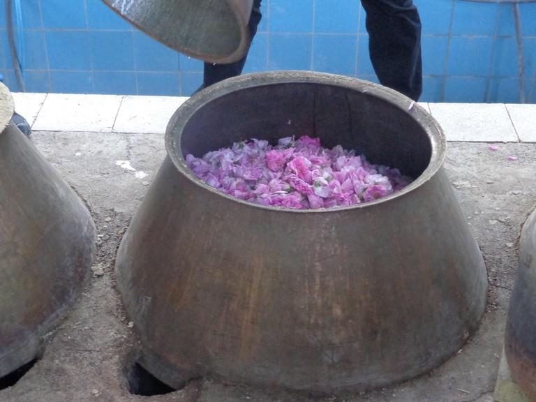 A rosewater distillery in Kashan   © Pontia Fallahi