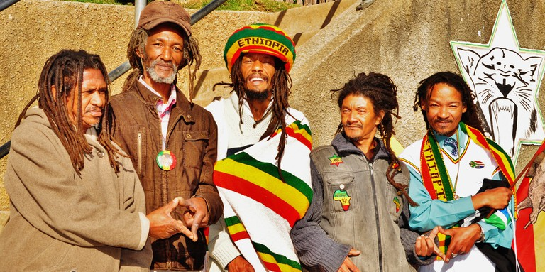 Rastafari men in Judah Square