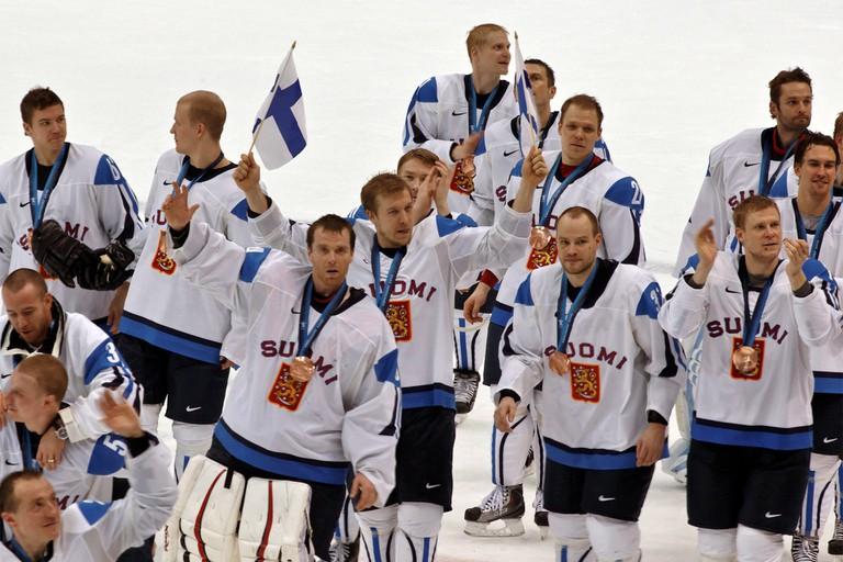 The Finnish men's hockey team at the 2010 Winter Olympics
