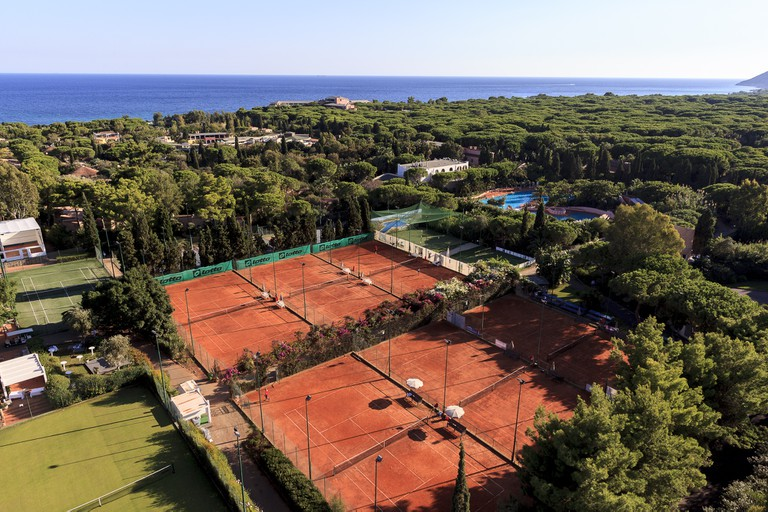 Tennis courts at the resort.