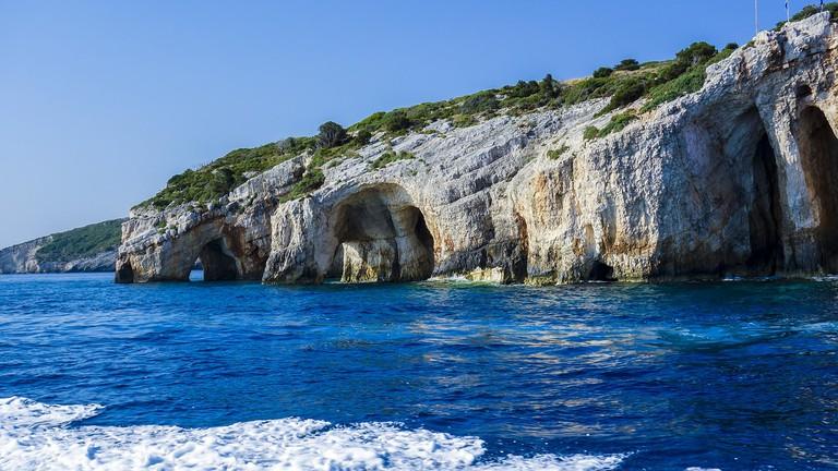 Blue Caves in northern Zakynthos, Greece