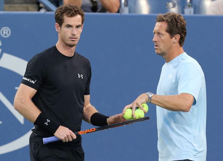 Jonas Bjorkman with Andy Murray.