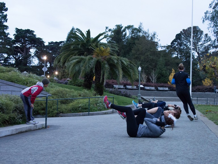 Koi Fitness at the Music Concourse
