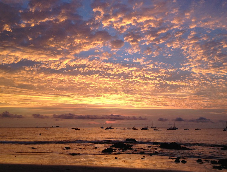 Sunsets in Tamarindo never disappoint
