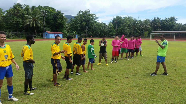 A Pohnpei league match between Chihuahuas and Pink Panthers.
