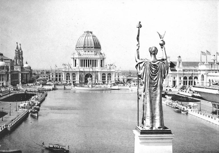 Rivalry over the 1893 World's Columbian Exposition has been blamed for the nickname   © C. D. Arnold/WikiCommons