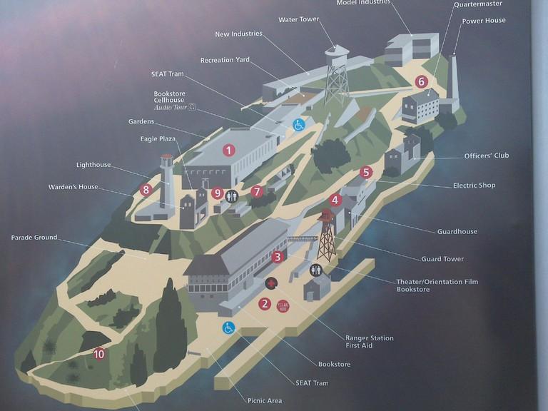 Map of Alcatraz