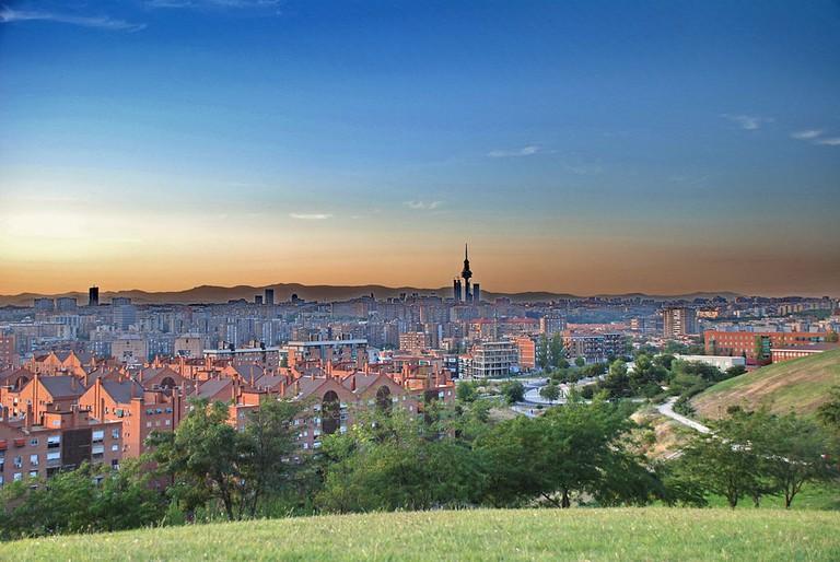 "<a href=""https://commons.wikimedia.org/wiki/File:Madrid_SkyLine_-_Cerro_del_T%C3%ADo_P%C3%ADo.jpg"">The view of Madrid from Cerro de Tío Pío   © frankblacknoir/WikiCommons</a>"