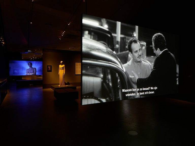 The exhibition includes several media installations and many original items from Martin Scorsese's private collection