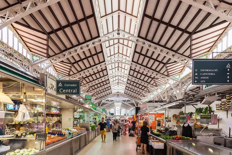 Inside the Central Market, Valencia