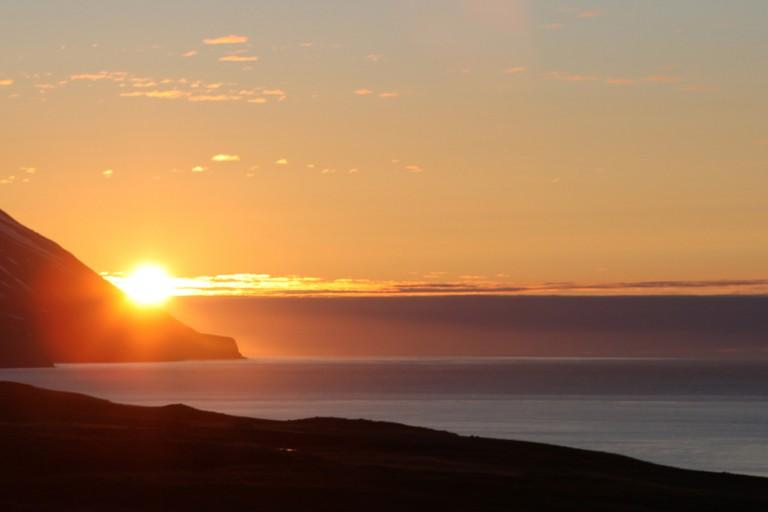 Midnight Sun in Dalvík   © Gudny Olafsdottir